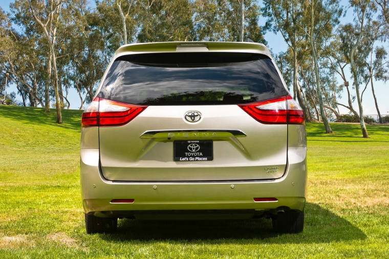 2017 Toyota Sienna Limited AWD in Creme Brulee Mica from a rear view