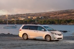 2017 Toyota Sienna Limited in Super White - Static Front Right Three-quarter View