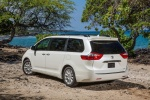2017 Toyota Sienna Limited in Super White - Static Rear Left Three-quarter View