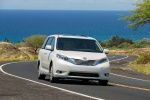 2017 Toyota Sienna Limited in Super White - Driving Front Right View