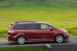 2017 Toyota Sienna SE in Salsa Red Pearl - Driving Side View