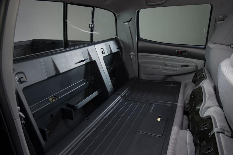 2013 Toyota Tacoma Double Cab SR5 V6 4WD Rear Seats Folded Picture