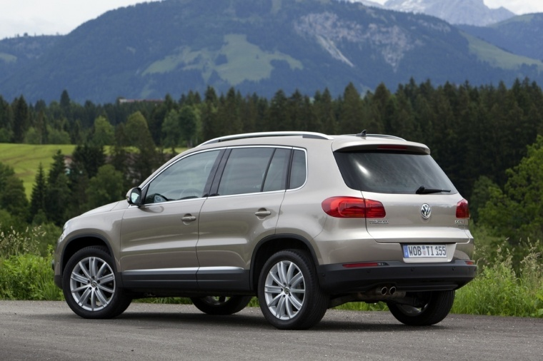 2017 Volkswagen Tiguan from a rear left three-quarter view