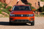 Picture of a 2018 Volkswagen Tiguan SEL in Habanero Orange Metallic from a frontal perspective