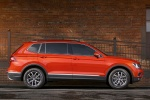 Picture of a 2018 Volkswagen Tiguan SE in Habanero Orange Metallic from a side perspective