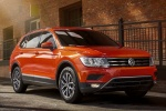 Picture of a 2018 Volkswagen Tiguan SE in Habanero Orange Metallic from a front right three-quarter perspective