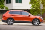 Picture of a 2018 Volkswagen Tiguan SEL in Habanero Orange Metallic from a right side perspective