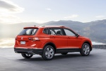 Picture of a 2019 Volkswagen Tiguan SEL in Habanero Orange Metallic from a rear right three-quarter perspective