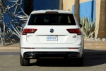 Picture of a 2019 Volkswagen Tiguan R-Line in Pure White from a rear perspective