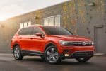 Picture of a 2019 Volkswagen Tiguan SEL in Habanero Orange Metallic from a front right three-quarter perspective