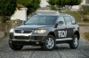 2010 Volkswagen Touareg TDI in Galapagos Gray Metallic from a front left three-quarter view