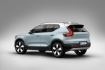 Picture of a 2019 Volvo XC40 T5 Momentum AWD in Amazon Blue from a rear left three-quarter perspective