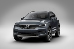 Picture of a 2019 Volvo XC40 T5 Inscription AWD in Denim Blue Metallic from a front left perspective