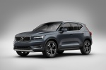 Picture of a 2019 Volvo XC40 T5 Inscription AWD in Denim Blue Metallic from a front left three-quarter perspective