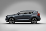 Picture of a 2019 Volvo XC40 T5 Inscription AWD in Denim Blue Metallic from a side perspective
