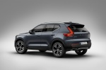 Picture of a 2019 Volvo XC40 T5 Inscription AWD in Denim Blue Metallic from a rear left three-quarter perspective