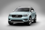 Picture of a 2020 Volvo XC40 T5 Momentum AWD in Light Blue from a front left perspective