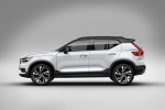 Picture of a 2020 Volvo XC40 T5 R-Design AWD in Crystal White Metallic from a side perspective