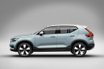 Picture of a 2020 Volvo XC40 T5 Momentum AWD in Light Blue from a side perspective