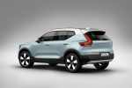 Picture of a 2020 Volvo XC40 T5 Momentum AWD in Light Blue from a rear left three-quarter perspective