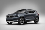 Picture of a 2020 Volvo XC40 T5 Inscription AWD in Denim Blue Metallic from a front left three-quarter perspective
