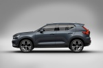Picture of a 2020 Volvo XC40 T5 Inscription AWD in Denim Blue Metallic from a side perspective