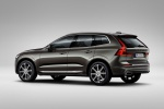 Picture of a 2019 Volvo XC60 T6 AWD in Pine Gray Metallic from a rear left three-quarter perspective