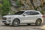 Picture of a 2019 Volvo XC60 T8 eAWD in Crystal White Pearl Metallic from a front left three-quarter perspective