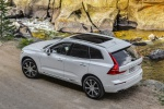 Picture of a 2019 Volvo XC60 T8 eAWD in Crystal White Pearl Metallic from a rear left top perspective